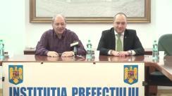 Conferință de presă susținută de prefectul județului Iași, Dan Cârlan