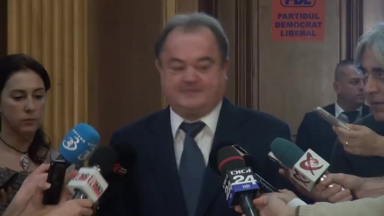 Declarațiile lui Vasile Blaga după ședința Colegiului Director al PDL din 20 decembrie 2014