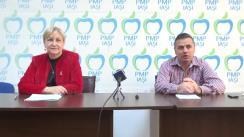 Conferință de presă susținută de deputații Partidului Mișcarea Populară, Petru Movilă și Camelia Bogdănici