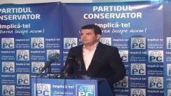 Conferinta de presa a Partidului Conservator
