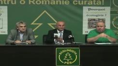 Conferință de presă a Partidul Ecologist Român