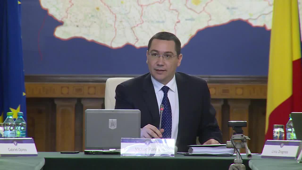 Ședința Guvernului României din 15 aprilie 2015 (imagini protocolare)