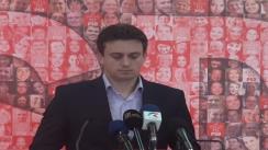 Europarlamentarul PSD Cătălin Ivan susține o conferință de presă
