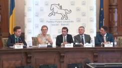 Conferință de presă organizată de Partidul Puterii Umaniste (social-liberal) cu ocazia prezentării concluziilor primei reuniuni a membrilor fondatori ai PPU