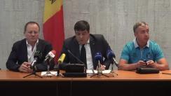 Conferință de presă organizată de Ministerul Tineretului și Sportului cu ocazia obținerii rezultatelor remarcabile ale sportivilor moldoveni la Campionatul European de lupte libere, lupte feminine și lupte greco-romane
