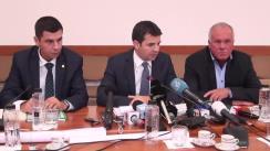 Conferință de presă susținută de ministrul Agriculturii și Dezvoltării Rurale, Daniel Constantin, cu ocazia prezentării rezultatelor a producției obținute la culturile la care s-a finalizat recoltatul
