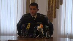 """Briefing organizat de Poliția Capitalei cu tema """"Grupare criminală reținută pentru punerea în circulație a substanțelor narcotice"""""""