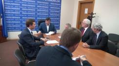 Întâlnirea ministrului Transporturilor și Infrastructurii Drumurilor, Iurie Chirinciuc, cu reprezentanții companiei OHL ZS, din Republica Cehă
