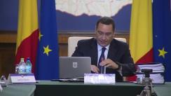 Ședința Guvernului României din 19 august 2015 (imagini protocolare)