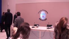 """Conferință de presă privind prezentarea stadiului proiectului """"Amenajare circuit turistic pe lacurile Floreasca și Tei"""""""