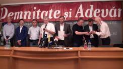 """Conferință de presă organizată de Platforma Civică Demnitate și Adevăr cu tema """"Cu prilejul Zilei Independenței"""""""