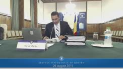 Ședința Guvernului României din 26 august 2015 (imagini protocolare)