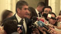 Declarații de presă după întrevederea liderilor partidelor parlamentare, privind Legea Codului Fiscal