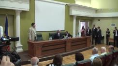 Prelegerea inaugurală a anului de învățământ 2015-2016 la Facultatea de Istorie și Filosofie a USM, susținută de prim-ministrul Republicii Moldova, Valeriu Streleț