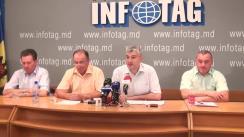 """Conferință de presă organizată de Uniagroprotect, Asociațiile Agroinform și Moldova-Fruct cu tema """"Reluarea protestelor de către organizațiile de fermieri"""""""