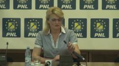 Conferință de presă susținută de prim-vicepreședintele PNL, Andreea Paul