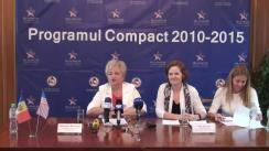 Conferință de presă dedicată finalizării Programului Compact al Corporației Provocările Mileniului, finanțat de Guvernul SUA
