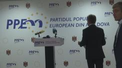 Conferință de presă organizată de Partidul Popular European din Moldova privind situația politică și social-economică din țară, precum și acțiunile viitoare ale noii formațiuni politice