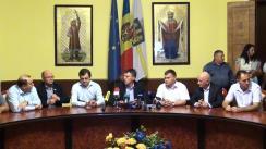 Semnarea Acordului pentru constituirea și funcționarea alianței pro-europene în Consiliul Municipal Chișinău