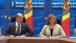 Conferință de presă susținută de Valeriu Streleț și Natalia Gherman cu ocazia marcării a unui an de la implementarea Acordului de Asociere RM-UE