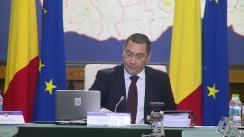 Ședința Guvernului României din 9 septembrie 2015 (imagini protocolare)