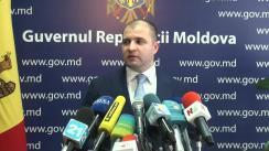 Declarațiile lui Vladimir Cebotari după ședința Guvernului Republicii Moldova din 9 septembrie 2015