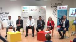 Conferință de presă organizată de Teach for Romania, împreună cu trei bănci importante din România: BCR, Raiffeisen Bank și UniCredit Bank
