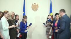 Briefing de presă susținut de președintele Parlamentului Republciii Moldova, Andrian Candu și prim-ministrul Republicii Moldova, Valeriu Streleț
