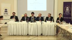 Conferință de presă susținută de membrul CSM din București, Cristi Danileț, procurorul-șef adjunct al DNA, Nistor Călin, expertul anticorupție, Eremei Priseajniuc, și directorul Institutului pentru Politici Europene din Germania, Mathias Jopp
