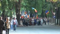 """Mitingul de protest organizat de Platforma Civică """"Demnitate și Adevăr"""" în fața Reședinței de Stat a Președintelui"""