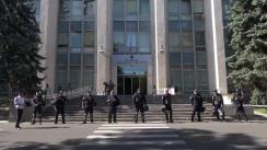 """Mitingul de protest organizat de Platforma Civică """"Demnitate și Adevăr"""" în fața Guvernului"""