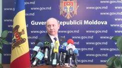 Declarațiile lui Valeriu Streleț după ședința Guvernului Republicii Moldova din 16 septembrie 2015