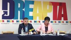 """Conferință de presă cu tema """"Dreapta despre confiscarea extinsă a averilor demnitarilor corupți"""""""