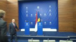 Conferință de presă susținută de miniștrii de Externe ai României și Olandei, Bogdan Aurescu și Bert Koenders