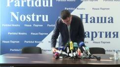 """Conferință de presă susținută de Renato Usatîi cu tema """"Dacă nu noi, cetățenii țării noastre, atunci cine?"""""""