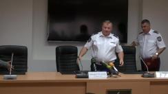 Conferință de presă organizată de Inspectoratul General al Poliției privind documentarea și dezmembrarea unei grupări criminale implicată în contrafacerea și contrabanda băuturilor alcoolice și produselor de tutungerie în proporții deosebit de mari