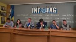 Conferință de presă dedicată evoluției naționalei Moldovei de juniori la Campionatul European de judo Under-21 în orașul Oberwart, Austria