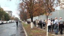 """Protestul pensionarilor organizat de Platforma Civică """"Demnitate și Adevăr"""" în fața Parlamentului"""