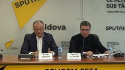 Conferință de presă susținută de președintele Partidului Socialiștilor din Republica Moldova, Igor Dodon, și președintele Partidului Nostru, Renato Usatîi