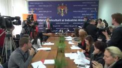 Conferință de presă organizată de Ministerul Agriculturii și Industriei Alimentare și Oficiul Național al Viei și Vinului privind desfășurarea Zilei Naționale a Vinului 2015 într-un nou format