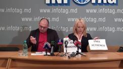 """Conferință de presă susținută de avocata Ana Ursachi și fostul deputat al Parlamentului, Alexandr Petkov, cu tema """"APCE l-a recunoscut pe Grigore Petrenco drept deținut politic, iar pe Plahotniuc - amenințare la adresa democrației"""""""