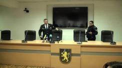 Conferință de presă susținută de șeful interimar al IGP, Gheorghe Cavcaliuc, și șeful INP, Marin Maxian
