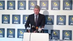Conferință de presă susținută de prim-vicepreședintele PNL, Cătălin Predoiu, privind situația politică și economică din țară