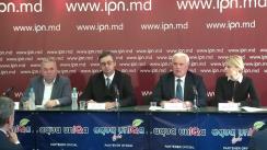 """Conferință de presă organizată de Institutul de Politici Publice și Centrul pentru Prevenirea Conflictelor și Early Warning (România) cu tema """"Strategia de Securitate Națională a Republicii Moldova. Dezbaterea societății civile"""""""
