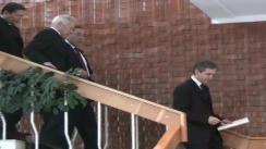 Kanat Saudabayev, ministrul Afacerilor Externe al Republicii Kazahstan și președinte în exercițiu al OSCE, și Iurie Leancă, viceprim-ministru și ministru al Afacerilor Externe și Integrării Europene a Republicii Moldova, semnează un memorandum de cooperare între cele doua ministere