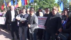 Acțiune de protest organizată de deputații, membrii și susținătorii Partidului Socialiștilor din Republica Moldova