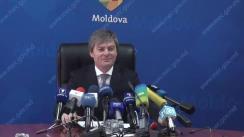 Briefing de presă susținut de viceministrul Economiei, Valeriu Triboi, pe tema situației în sectorul energetic