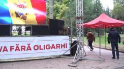 Conferință de presă susținută de președintele Partidului Nostru, Renato Usatîi, privind desfășurarea protestelor din centrul orașului