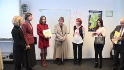 """Ceremonia de înmânare a certificatului de acreditare, oferit de Institutul Goethe către Centrul Cultural German """"Akzente"""""""