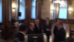 Întâlnirea președintelui României, Klaus Iohannis, cu prim-ministrul Republicii Moldova, Valeriu Streleț (imagini protocolare)